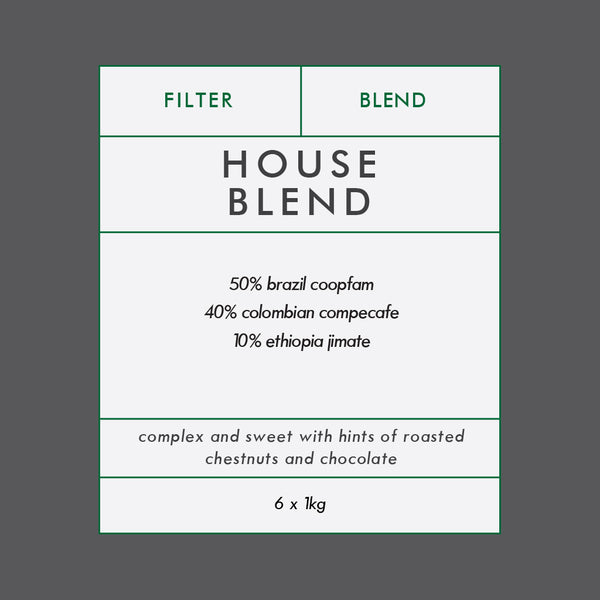 Fairtrade House Blend 6x1kg