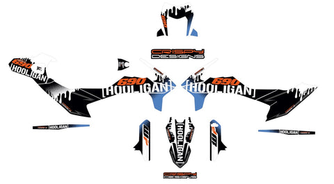 KTM 690 SMC-R 'Hooligan' decal kit - 2019+
