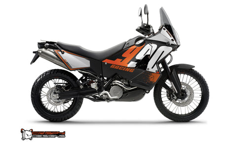 KTM Adventure 950 & 990 'RACING' black - Custom Race Number