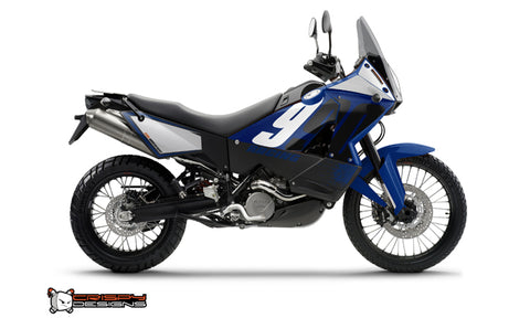 KTM Adventure 'Racing' Blue - Custom Race Number