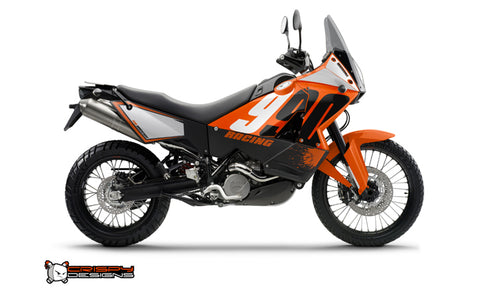 KTM Adventure 950 & 990 'RACING' orange - Custom Race Number