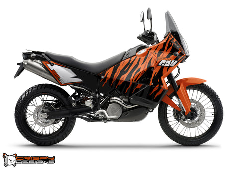 KTM Adventure 'Tiger Stripes' - Custom Race Number