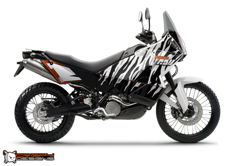 KTM Adventure 'Zebra Stripes' - Custom Race Number