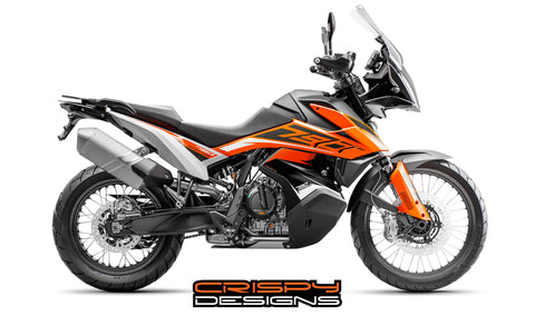KTM 790 ADV FTY1 tank decal kit