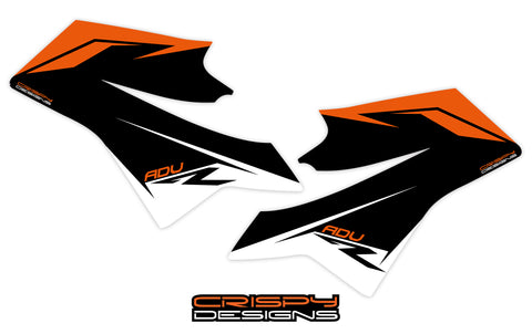 KTM 790 ADV-R FTY2 tank decal kit