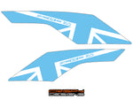 Triumph 765 Street Triple UJ belly pan decal set - White