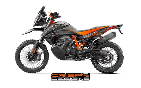 KTM 790 ADV-R 'Contour' black decal kit