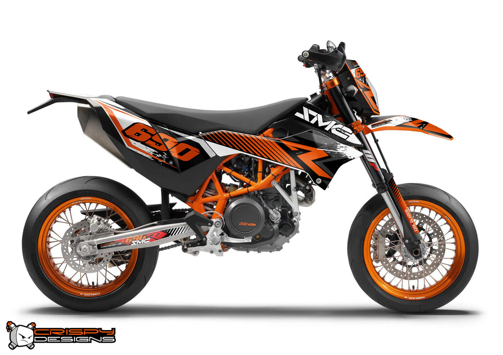 ktm 690 smc r 39 apex 39 decal kit crispy designs specialist in custom ktm 690 adventure. Black Bedroom Furniture Sets. Home Design Ideas