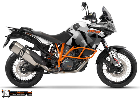 KTM Adventure 1190 & 1050 'Urban Camo' black - Custom Race Number
