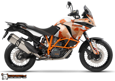 KTM Adventure 1190 & 1050 'Urban Camo' orange - Custom Race Number