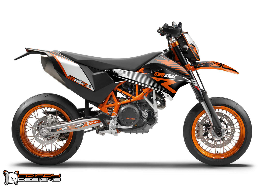 ktm 690 smc r 39 r line 39 decal kit custom race number. Black Bedroom Furniture Sets. Home Design Ideas