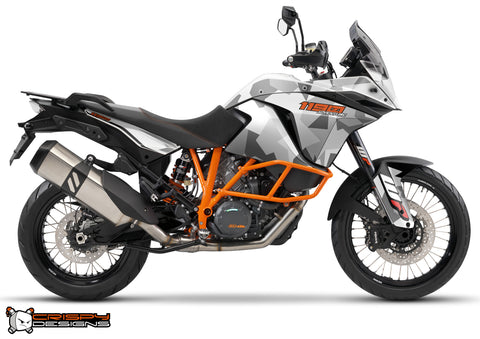 KTM Adventure 1190 & 1050 'Urban Camo' white - Custom Race Number