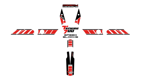 Yamaha Tenere 700 'Speed Blocks' decal set - 2019+