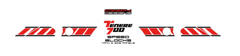 Yamaha Tenere 700 'Speed Blocks' tank & sides decal set - 2019+