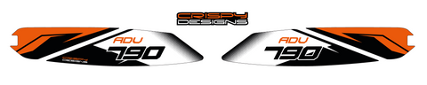 KTM 790 ADV FTY1 swing arm decals