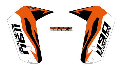 "KTM 1190 Adventure 'FACTORY' 21"" and 19"" fender decal set"