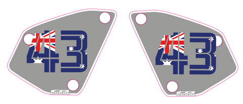 Carter - Custom Aussie flag Honda NSC number board