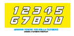 Yamaha Tenere 700 Rally Edition screen & number boards
