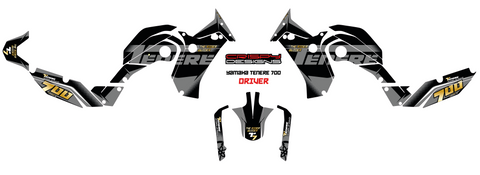 Driver - Custom Yamaha Tenere 700 decal set
