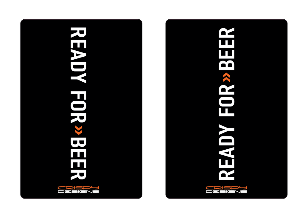 """READY FOR BEER"" Fork Decals"