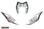 KTM 690 Enduro R number board and headlight set