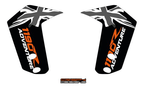 PICKUP - Custom KTM ADV fender decal set