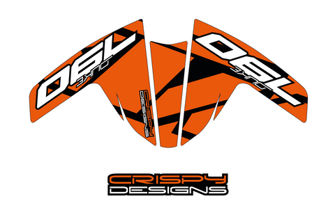 KTM 790 Duke APX1 fender decal set