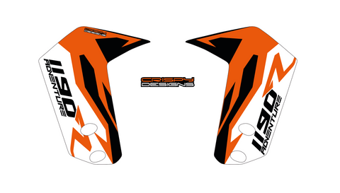 "KTM 1190 Adventure R 'FACTORY' 21"" and 19"" fender decal set"