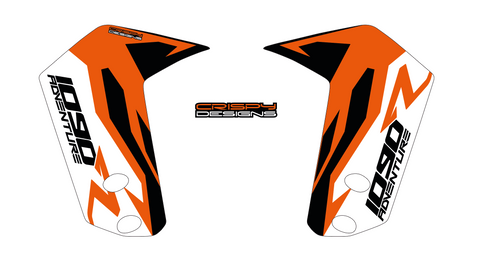 "KTM 1090 Adventure R 'FACTORY' 21"" and 19"" fender decal set"