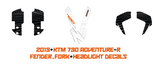 KTM 790 ADV-R 'Contour' white decal kit