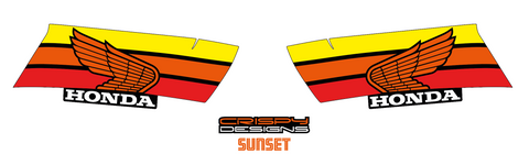 Honda CB1000R NSC Sunset tank decals