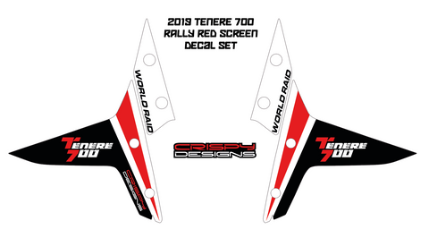 Yamaha Tenere 700 'Rally Screen' decal set - 2019+