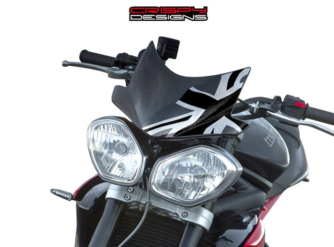 Monochrome Union Jack Fly Screen - 2013+ Triumph Speed & Street Triple