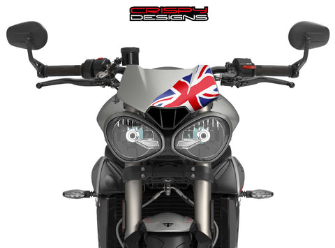 Colour Union Jack Fly Screen - 2016+ Triumph Speed & Street Triple 765 RS