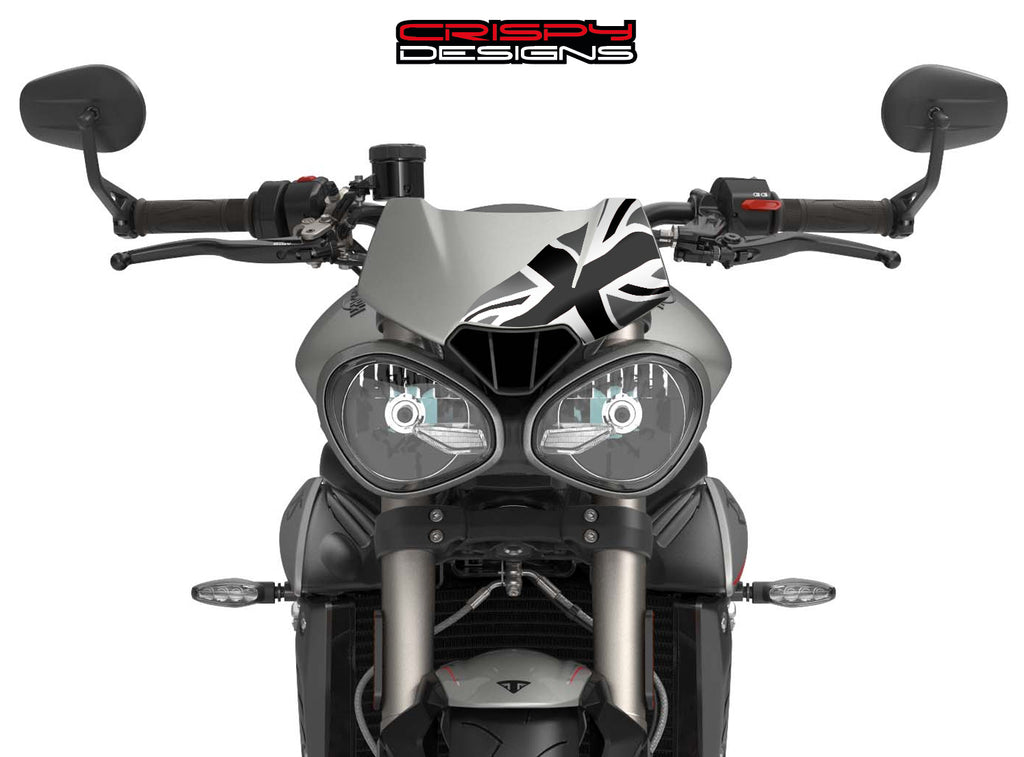 Monochrome Union Jack Fly Screen - 2016+ Triumph Speed & Street Triple 765