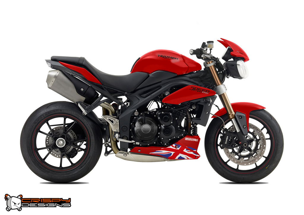Pre 2015 Triumph Speed Triple Union Jack belly pan decal ...
