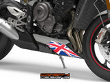 Triumph 765 Street Triple Union Jack belly pan decal set - Colour