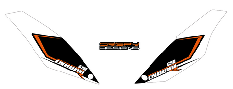 Van Alphen - KTM 690 Enduro rear board decals