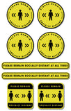 Social Distancing - Graphic Pack - Please Remain Socially Distant - Silver