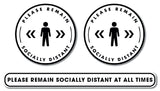 Social Distancing - Graphic Pack - Please Remain Socially Distant - Bronze