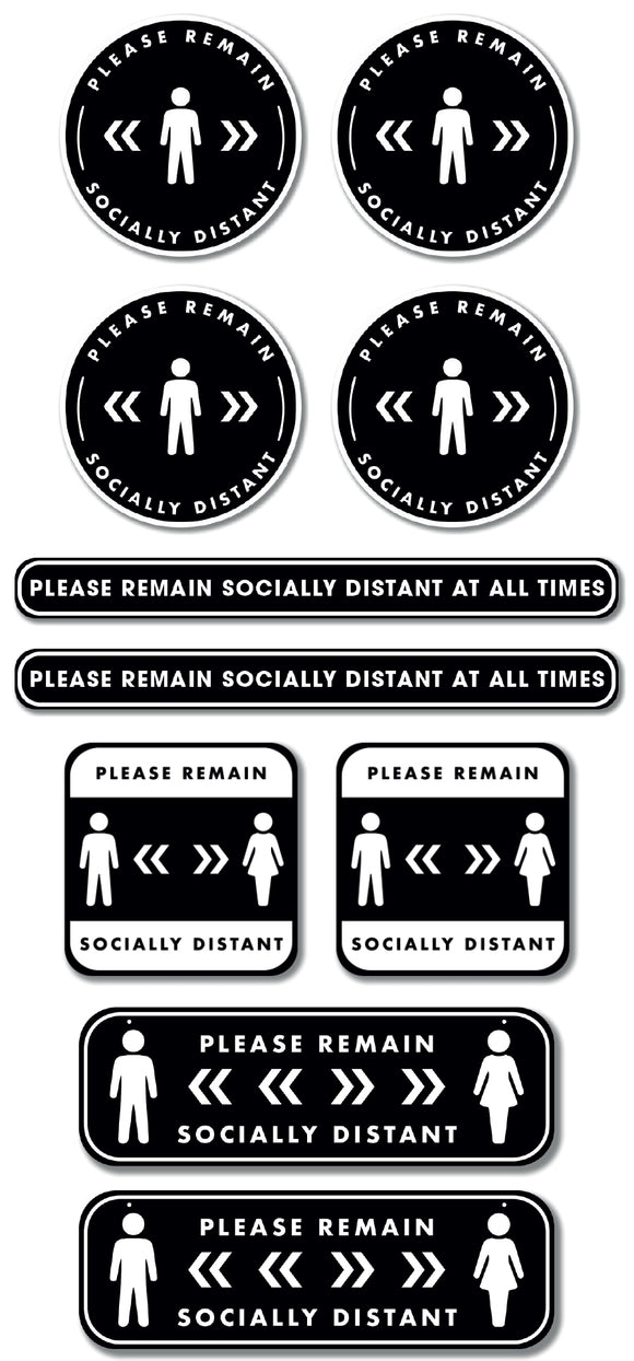 Social Distancing - Graphic Pack - Please Remain Socially Distant - Gold
