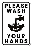 Hygiene Foamex Graphic - Please Wash Your Hands 200mm x 300mm Foamex