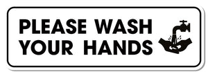 Hanging Hygiene Graphic Foamex - Please Wash Your Hands 900mm x 300mm Hanging Foamex