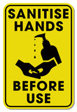 Hygiene Foamex Graphic - Please Sanitise Your Hands 200mm x 300mm Foamex