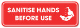 Hanging Hygiene Graphic Foamex - Please Sanitise Your Hands 900mm x 300mm Hanging Foamex