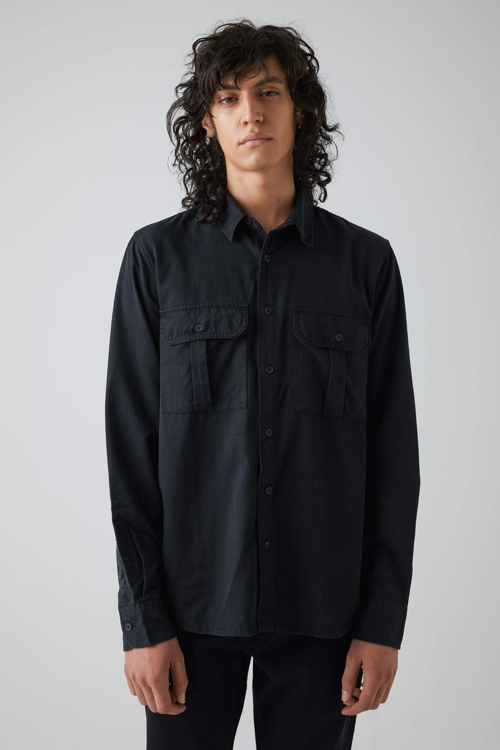 Workwear Twill Ls - Black