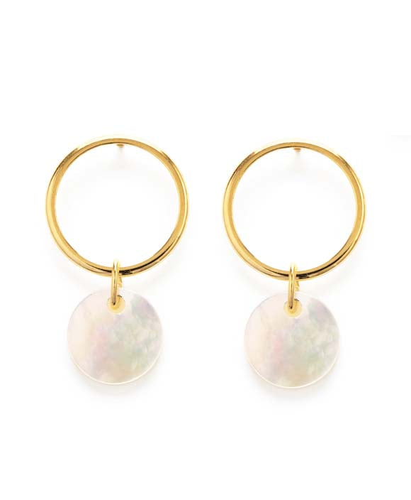 Playa Stud Earrings - Mother of Pearl