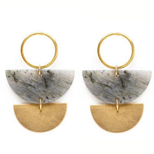 Load image into Gallery viewer, Lunar Labradorite Earrings