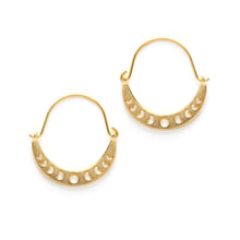 Load image into Gallery viewer, Moon Phases Crescent Earrings