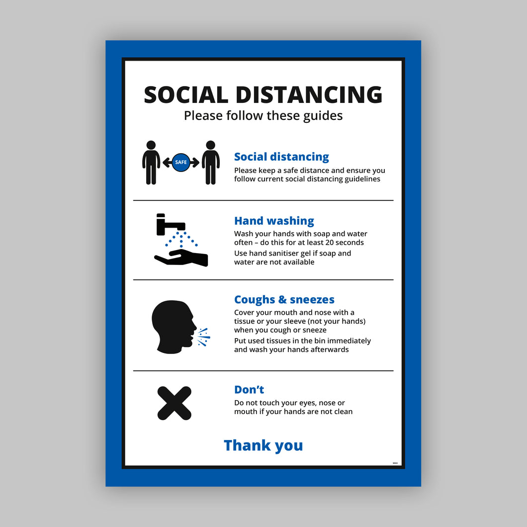 A2 Social Distancing Posters (Business) - No Distance Measure